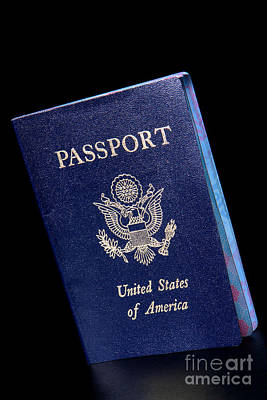 Photograph - Us Passport by Olivier Le Queinec