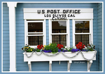 Photograph - Us Post Office Los Olivos Cal by Floyd Snyder