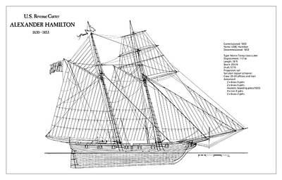 U.s. Revenue Cutter Alexander Hamilton Art Print by Jose Elias - Sofia Pereira