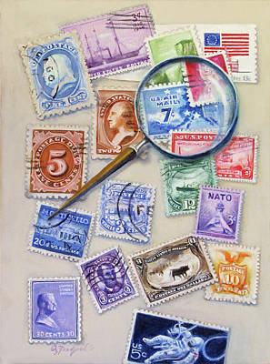 U.s. Stamp Collection Art Print