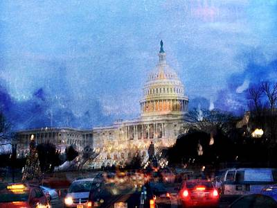 Digital Art - Us State Capitol by Julius Reque