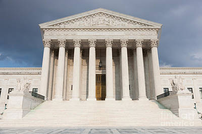 Photograph - Us Supreme Court Building V by Clarence Holmes