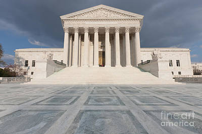 Photograph - Us Supreme Court Building Vii by Clarence Holmes