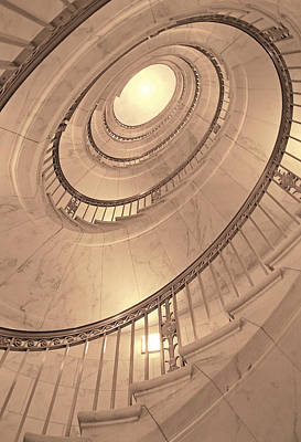 Photograph - U. S. Supreme Court Oval Stairway by Doug Davidson