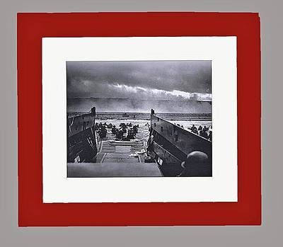 Us Troops Beginning The Assault On Normandy June 6 1944 Frames Added In 2016 Art Print by David Lee Guss