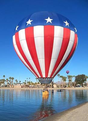 Hot Air Balloon Photograph - Usa Balloon by Adrienne Wilson