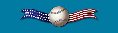 Digital Art - Usa Baseball by Ericamaxine Price