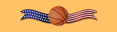 Digital Art - Usa Basketball by Ericamaxine Price