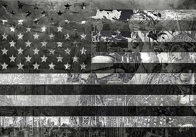 Landmarks Royalty-Free and Rights-Managed Images - Usa flag 4 by Bekim M
