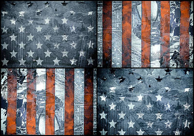 Landmarks Painting Royalty Free Images - Usa flag 7 Royalty-Free Image by Bekim M