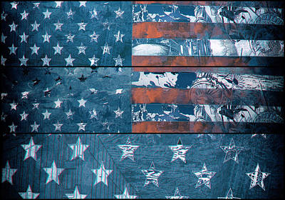 Painting - Usa Flag 8 by Bekim Art