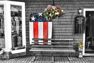 Photograph - Usa Flag - Americana Series 09  by Carlos Diaz