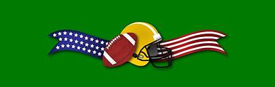 Digital Art - Usa Football by Ericamaxine Price