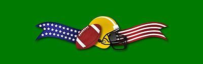 Digital Art - Usa Football by Ericamaxine Price