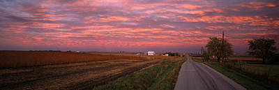 Gravel Road Photograph - Usa, Illinois, Road by Panoramic Images