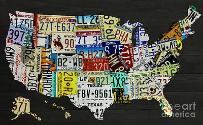 Photograph - Usa Map  by Dale Powell