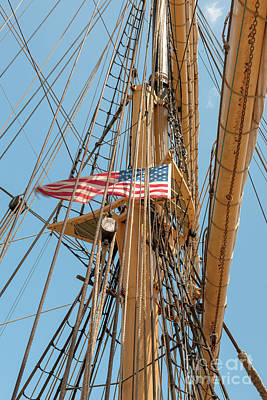 Photograph - Usa Mast Flag by Dale Powell