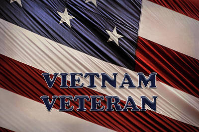 Photograph - Usa Military Patriotic Flag Vietnam Veteran by Shelley Neff