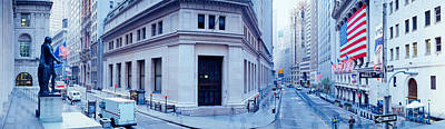 New York Stock Exchange Photograph - Usa, New York, New York City, Wall by Panoramic Images