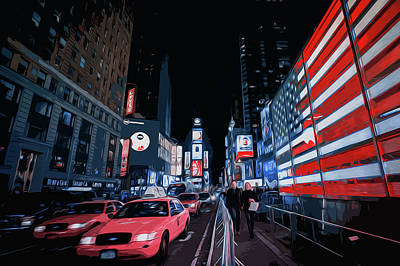 Painting - Usa - Nights Of New York by Andrea Mazzocchetti