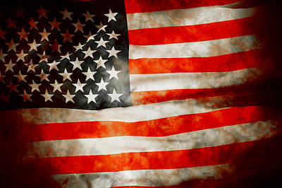 Usa Old Glory Patriot Flag Art Print by Phill Petrovic