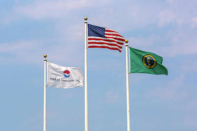 Photograph - Usa Port Of Vancouver Washington Flags by Jit Lim