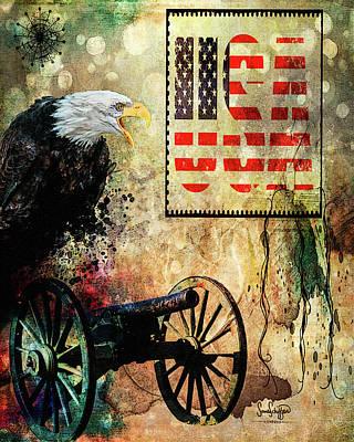 Digital Art - USA by Sandra Schiffner