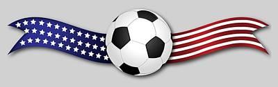 Digital Art - Usa Soccer by Ericamaxine Price