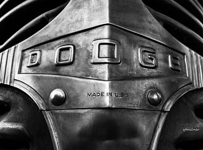 Name In Lights Photograph - U.s.a. Steel - Vintage Dodge Truck Emblem by Steven Milner