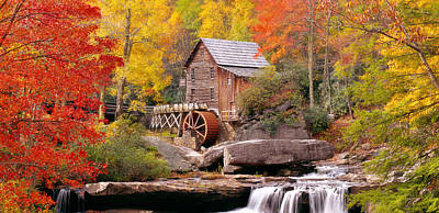 Mill Photograph - Usa, West Virginia, Glade Creek Grist by Panoramic Images