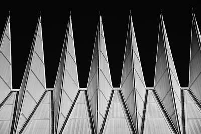 Photograph - U. S. A. F. Academy Cadet Chapel Detail by Rand