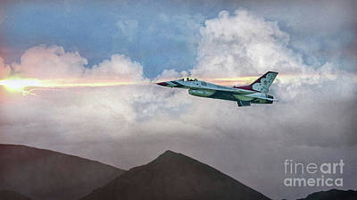 Digital Art - Usaf The Lone Thunderbird by Mary Lou Chmura