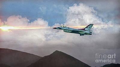 Digital Art - Usaf The Lone Thunderbird by Mary Lou Chmura