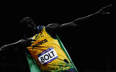 Usain Bolt Fastest Man Alive Art Print