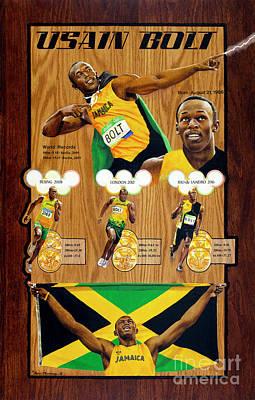 Usain Bolt Painting - Usain Bolt by Gary Thomas