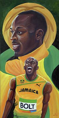 Usain Bolt Painting - Usain Bolt by Kavion Robinson