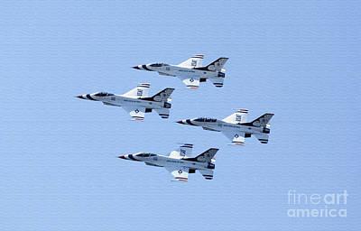 U.s.air Force Thunderbirds Art Print