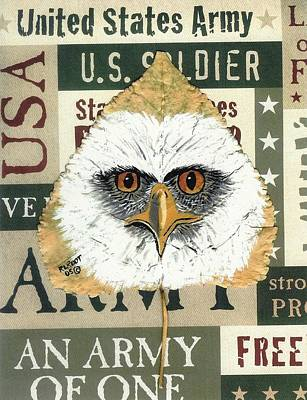 Painting - U.s.army Eagle by Ralph Root