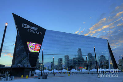 Usbank Stadium Morning Art Print