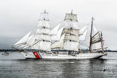 Photograph - Uscg Eagle by Kevin Fortier