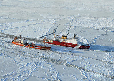 Photograph - Uscg Healy Breaks Ice by Stocktrek Images