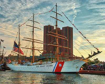 Photograph - Uscgc Barque Eagle  by Mark Dodd