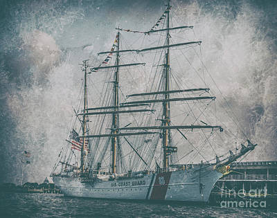 Photograph - Uscgc Barque Eagle Wix-327 Docked In Charleston South Carolina by Dale Powell