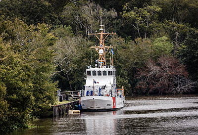 Photograph - Uscgc Pelican Moored 1 by Gregory Daley  PPSA