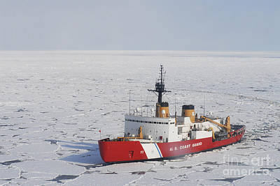 Uscgc Polar Sea Conducts A Research Art Print