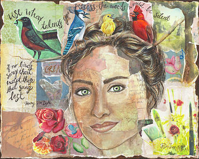 Mixed Media - Use Your Talents by JoDee Luna