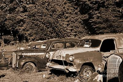 Photograph - Used Car Values by Ansel Price