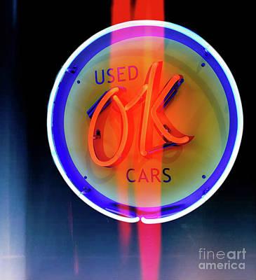 Used Ok Cars  Art Print by Steven Digman
