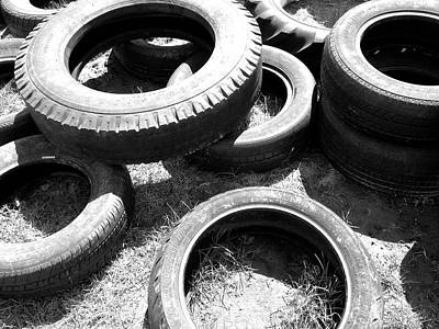 Photograph - Used Tires by Polly Castor