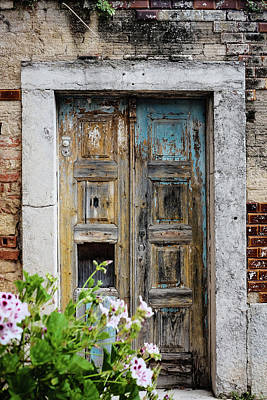 Old Door Photograph - Used To Be Blue by Marco Oliveira